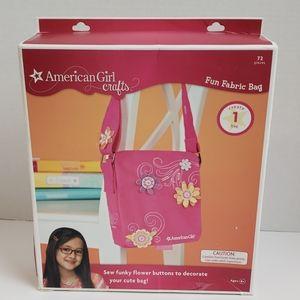 American girl crafts fun fabric bag pink nib 2010